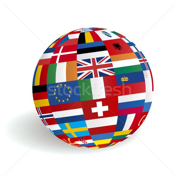 European flags in globe sphere Stock photo © photosoup