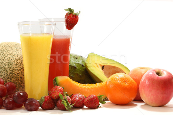 Stock photo: Healthy fruit juices