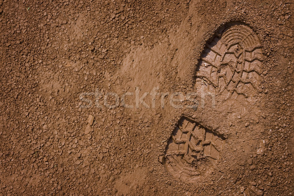 Bootprint on mud  Stock photo © photosoup