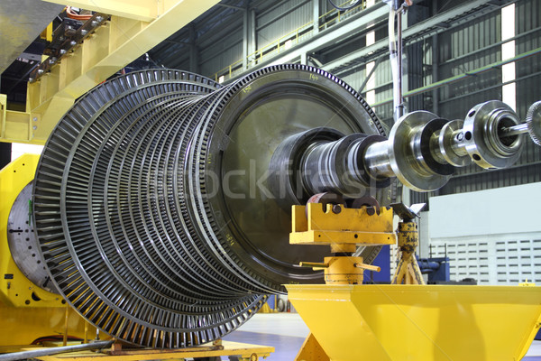 Industrial turbine at the workshop Stock photo © photosoup