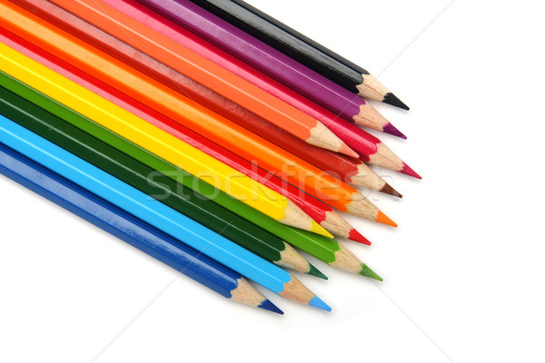 Couleur crayons isolé bureau design art Photo stock © photosoup
