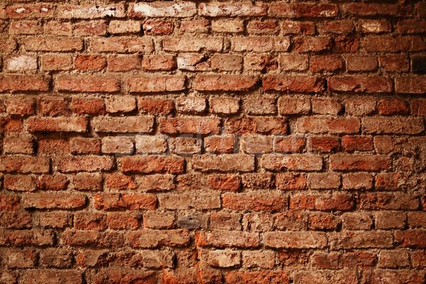 Murem tekstury grunge budowy ściany pomarańczowy Zdjęcia stock © photosoup