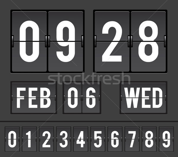 Analoog countdown timer mechanisch scorebord klok Stockfoto © photosoup