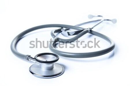стетоскоп медицинской работу медицина синий Сток-фото © photosoup