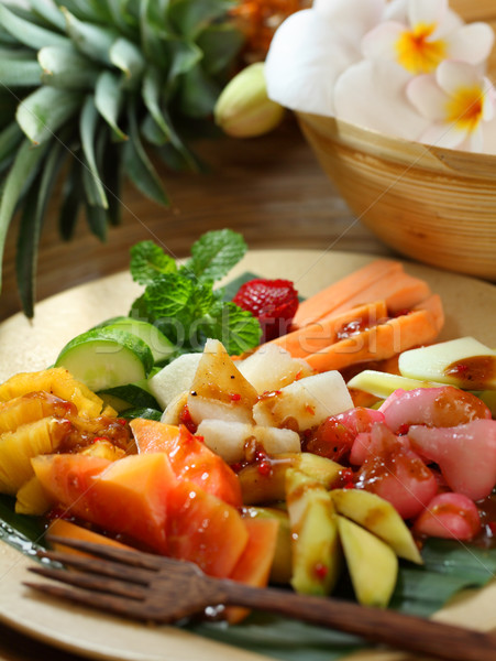 Traditional fruit salad dish commonly found in Indonesia Stock photo © photosoup