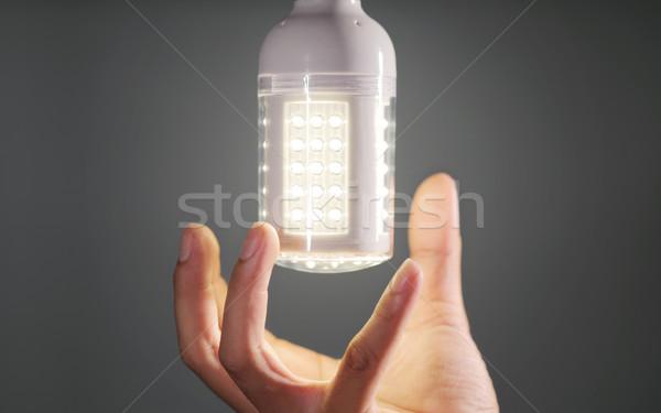 El ampul modern teknoloji yeşil lamba Stok fotoğraf © photosoup