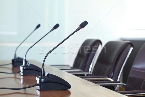 Conferência negócio quarto alto-falante comunicação Foto stock © photosoup