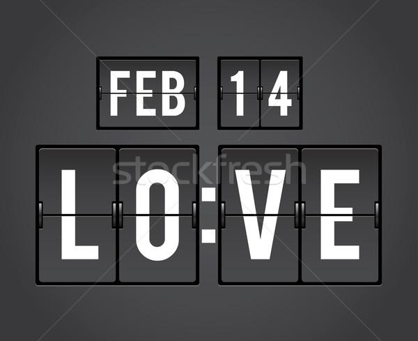 San valentino conto alla rovescia timer meccanica pannello Foto d'archivio © photosoup