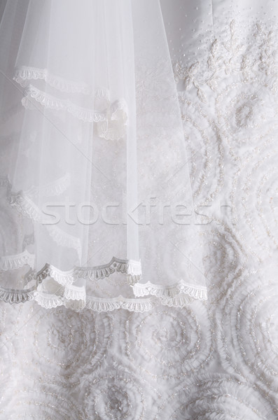 White wedding dress background Stock photo © photosoup