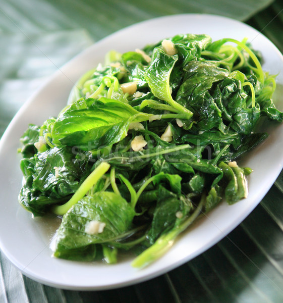 Stir fried water spinach with garlic Stock photo © photosoup