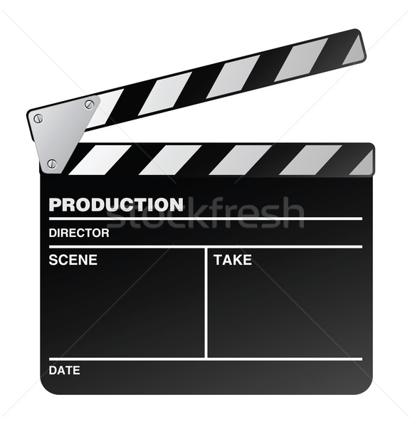 Movie maker clapperboard Stock photo © photosoup