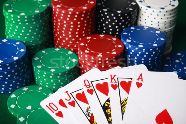 Real ganar póquer mano dinero deporte Foto stock © photosoup