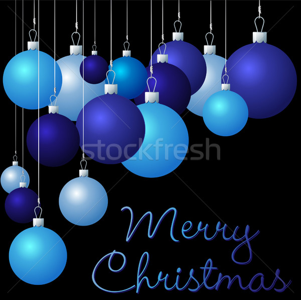Group of Christmas baubles in vector format. Stock photo © piccola