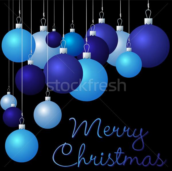 Grup Noel vektör format ağaç sevmek Stok fotoğraf © piccola