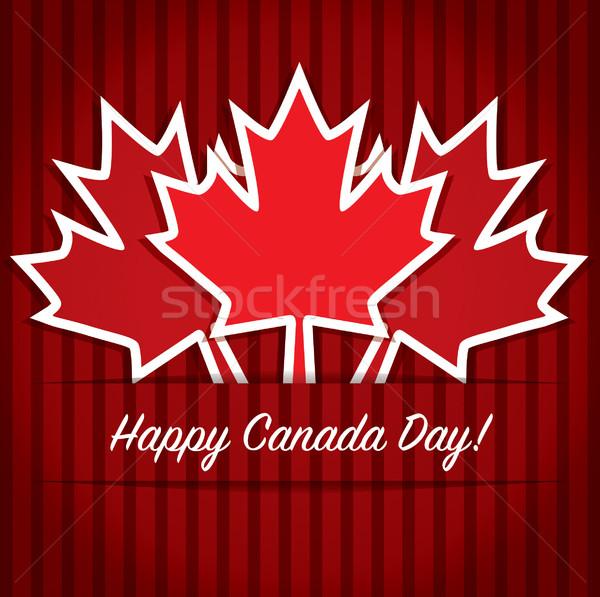 Mutlu Kanada gün kart vektör format Stok fotoğraf © piccola