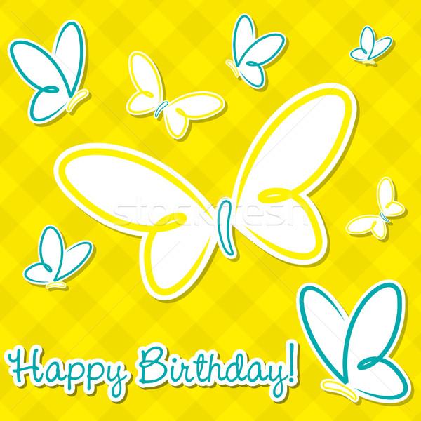 Papillon vecteur format fête heureux Photo stock © piccola