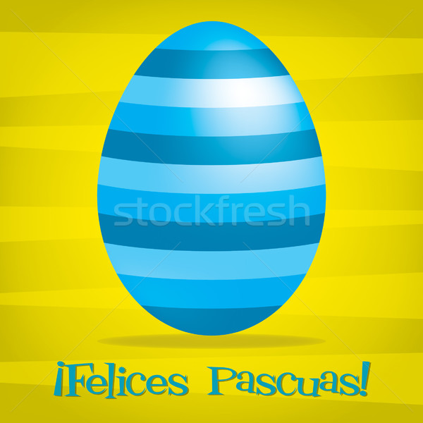 Bright Spanish Happy Easter card in vector format. Stock photo © piccola