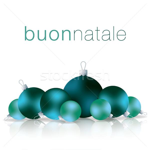 Italiano alegre Navidad chuchería tarjeta vector Foto stock © piccola
