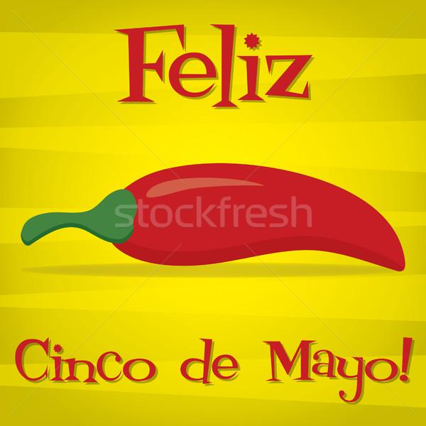 'Feliz Cinco de Mayo' (Happy 5th of May) card in vector format. Stock photo © piccola