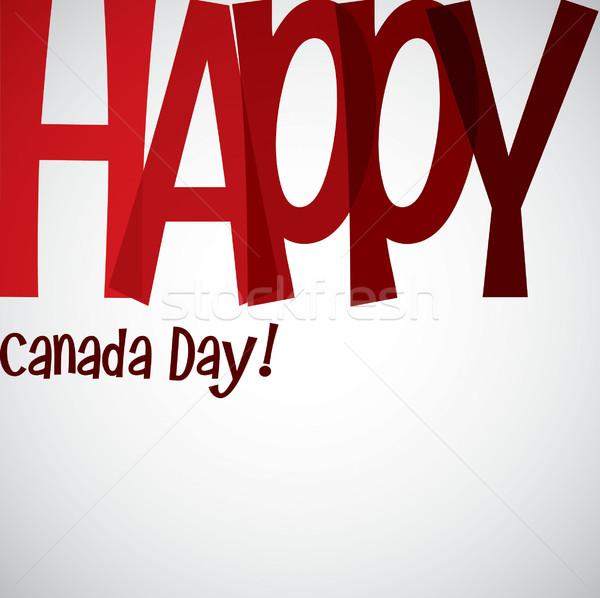 Canadá dia cartão vetor formato Foto stock © piccola