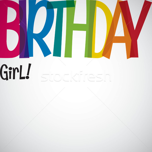 Typographic Birthday card in vector format. Stock photo © piccola