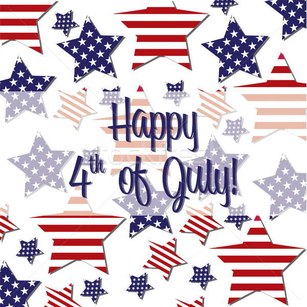 4th of July card in vector format. Stock photo © piccola