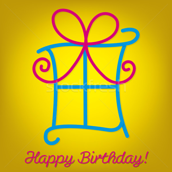 Bright 'Happy Birthday' card in vector format. Stock photo © piccola