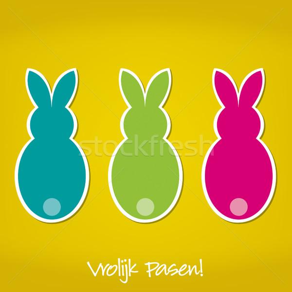 Holland húsvéti nyuszi kártya vektor formátum papír Stock fotó © piccola