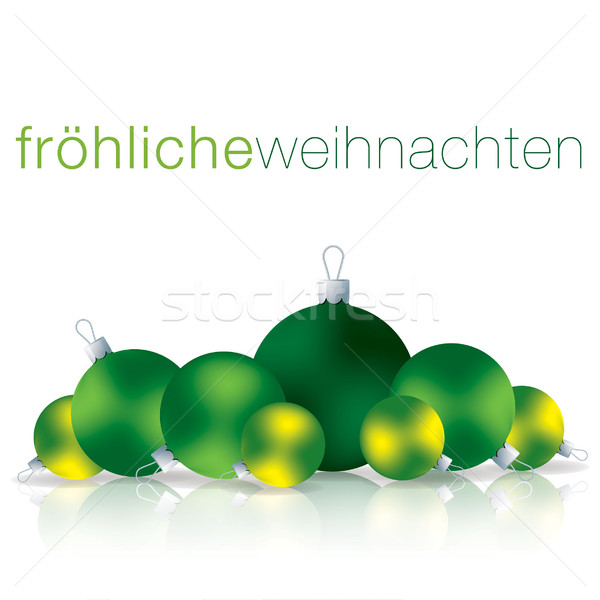 веселый Рождества безделушка карт вектора формат Сток-фото © piccola