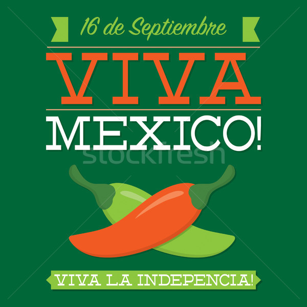 Retro style Viva Mexico card in vector format. Stock photo © piccola