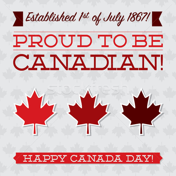 Flat typographic Canada Day card in vector format. Stock photo © piccola