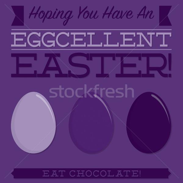 Retró stílus húsvét tipográfiai kártya vektor formátum Stock fotó © piccola