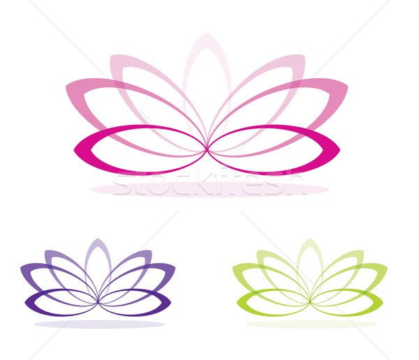 Simple lotus flowers in vector format. Stock photo © piccola
