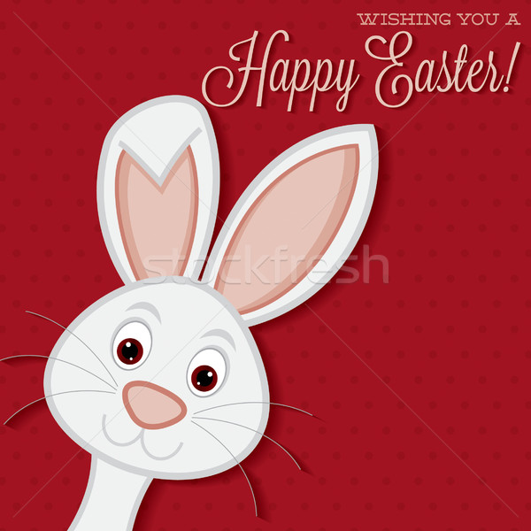 Stock fotó: Fényes · húsvéti · nyuszi · kártya · vektor · formátum · húsvét