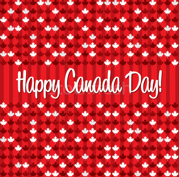Happy Canada Day card in vector format. Stock photo © piccola