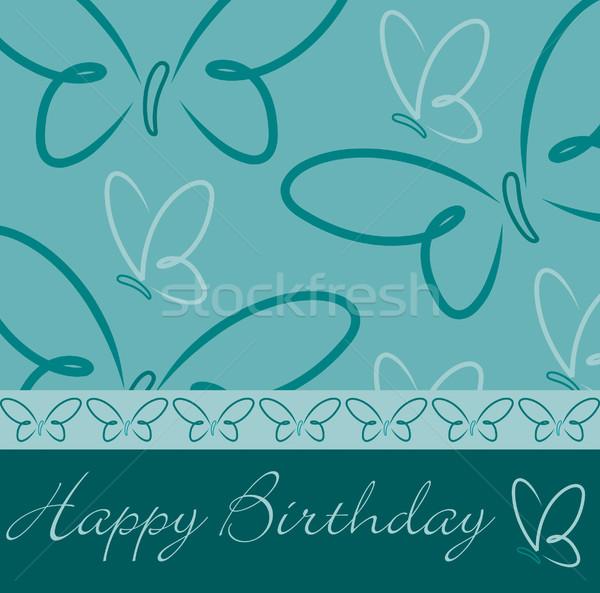 Happy Birthday butterfly card Stock photo © piccola