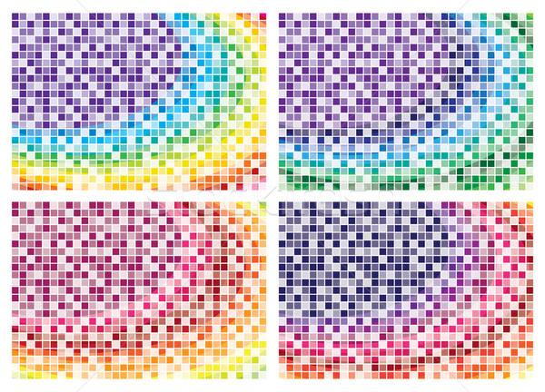 Mozaiki streszczenie środowisk wektora format ściany Zdjęcia stock © piccola