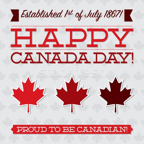 Typografisch Canada dag kaart vector formaat Stockfoto © piccola