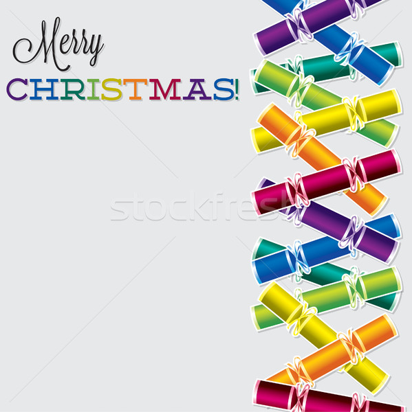 Bright Christmas cracker card in vector format. Stock photo © piccola