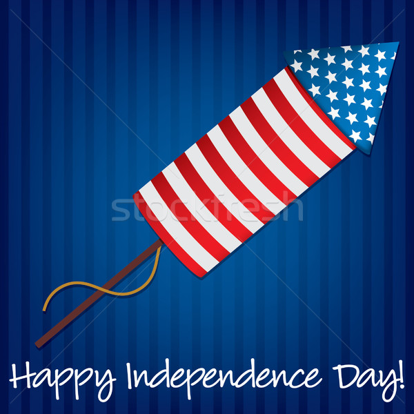 Happy Independence Day firecracker card in vector format. Stock photo © piccola