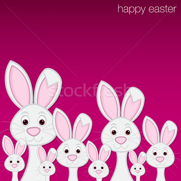 White Easter bunny card in vector format. Stock photo © piccola