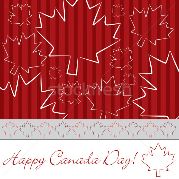 Hand drawn maple leaf Canada Day card in vector format. Stock photo © piccola