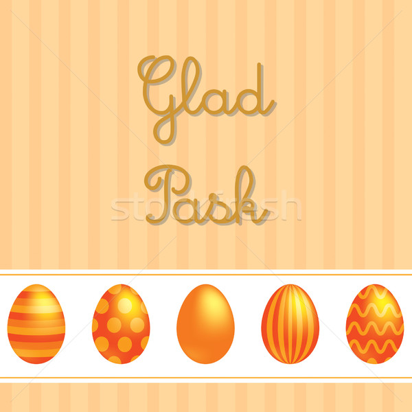 Swedish vector Easter card design. Stock photo © piccola