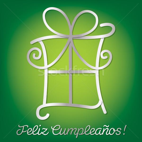 Bright Spanish 'Happy Birthday' card in vector format. Stock photo © piccola