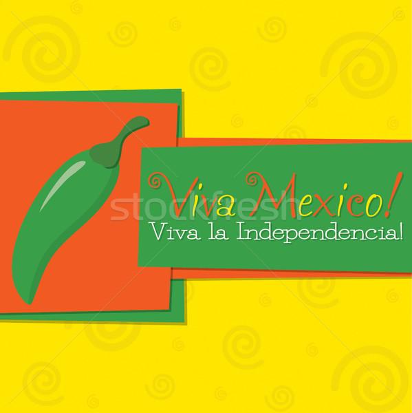 Funky chilli 'Feliz Cinco de Mayo' (Happy 5th of May) card in ve Stock photo © piccola