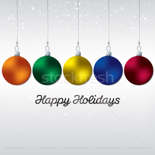 Egyszerű elegáns csecsebecse karácsonyi üdvözlet vektor formátum Stock fotó © piccola