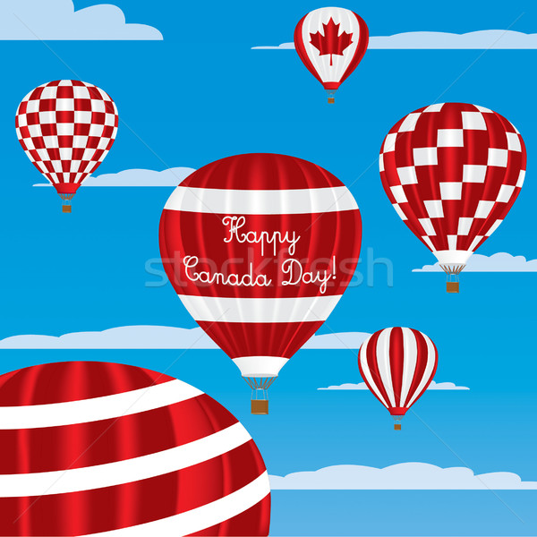 Canada Day greeting card in vector format. Stock photo © piccola