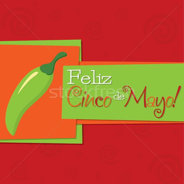 Stock fotó: Funky · chilli · majonéz · boldog · kártya · papír