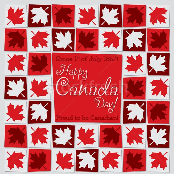 Mosaïque Canada jour carte vecteur format Photo stock © piccola