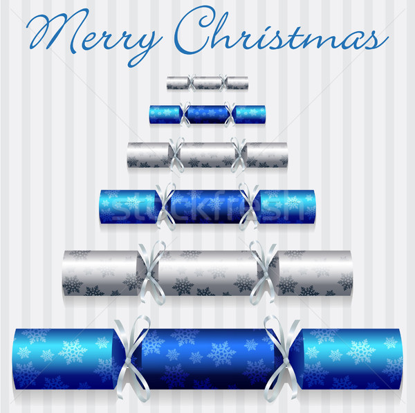 Merry Christmas cracker card in vector format. Stock photo © piccola
